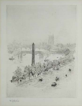 [The Embankment looking towards Westminster.]