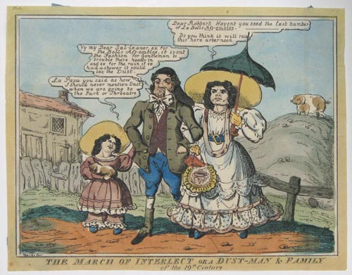 The March of Interlect or a Dust-Man & Family of the 19th Century.