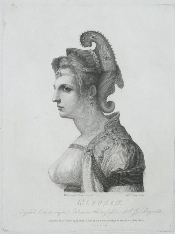 'Zenobia'. Engraved from an original Picture in the possession of Sr, Josa. Reynolds.