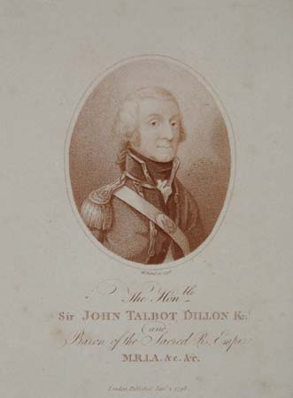 Sir John Talbot Dillon Knt. And Baron of the Sacred R. Empire. M.R.L.A. &c. &c.
