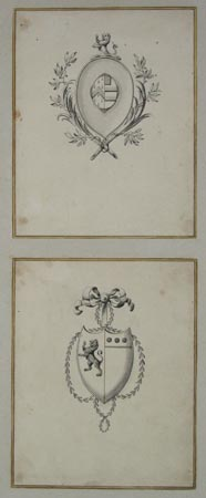 [Pair of Scottish Armorials.]