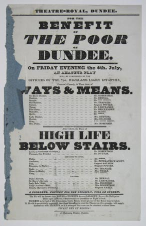 Theatre-Royal, Dundee. For the Benefit of the Poor of Dundee.