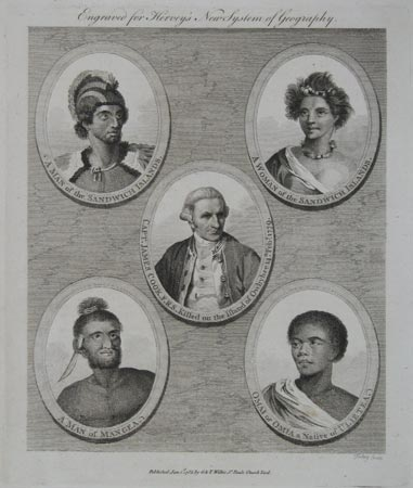 [Five oval portraits from Cook's Voyages].