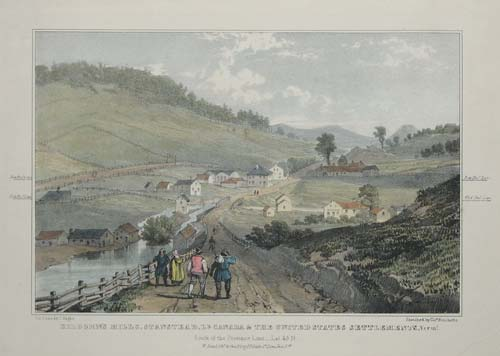 Kilborn's Mills, Standstead, L.r. Canada & The United States Settlements, Verm.t. South of the Privince Line _ Lat 45N.
