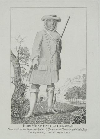 Iohn West. Earl of Delawar  From an Original Drawing in the Collection of R. Bull Esqr.