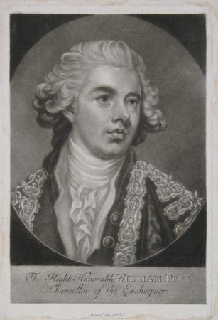 The Right Honorable William Pitt, Chancellor of the Exchequer.