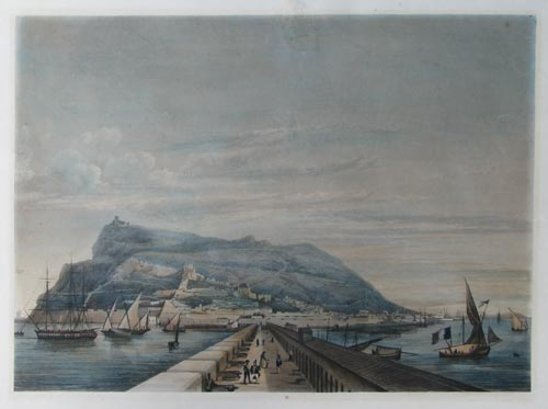 [Untitled lithographic view of Gibraltar.]