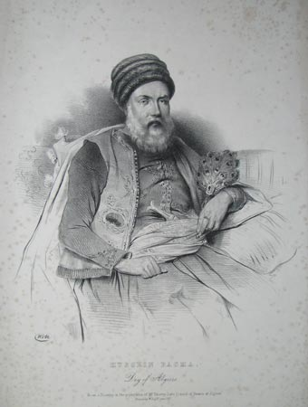 Hussein Pacha.  Dey of Algiers.  From a Drawing in the possession of Mr. Thierry. Late Consul of France at Algiers.