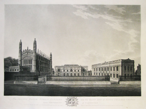 The Senate House, Public Library and the East End of Kings College Chapel in the University of Cambridge.