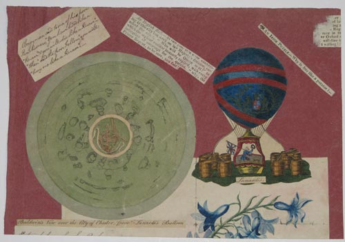 Baldwin's view over the City of Chester from Lunardi's balloon [&] Lunardi's [balloon].