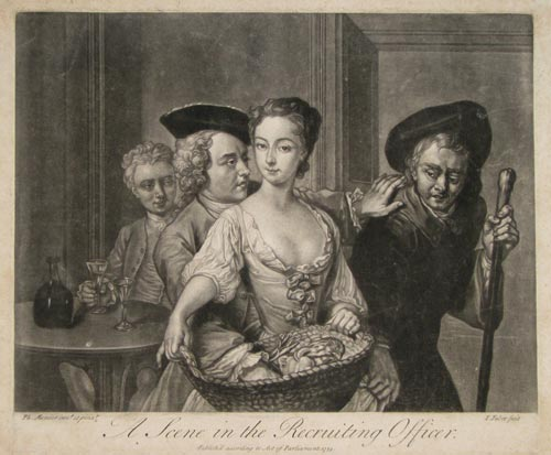 A Scene in the Recruiting Officer.
