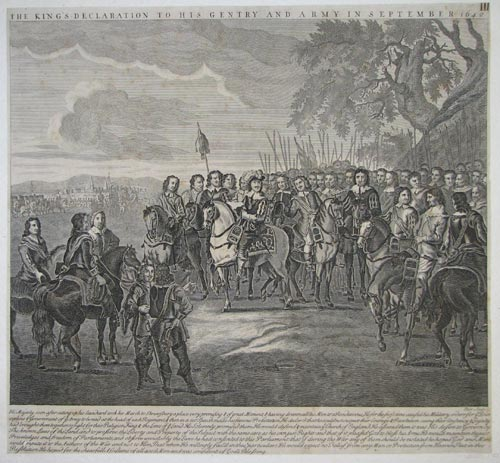 The King's Declaration to his Gentry and Army in September 1642.
