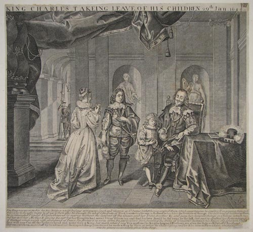 King Charles Takeing Leave Of His Children 29th. Jan. 1648/9.