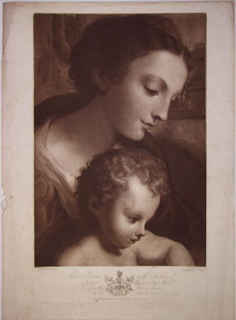 [Virgin and Child.]  From a Picture in the Collection of Robert Wigram Esqr. M.P.