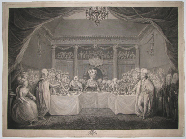 Installation Dinner at the Institution of the Most Illustrious Order of St Patrick in St. Pattick's Hall within the Castle of Dublin, March 17th 1783.