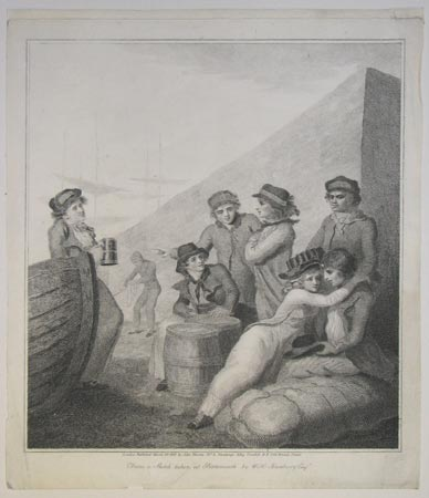[Sailors on shore.] From a sketch taken at Portsmouth by W.H.Bunbury Esq.r.