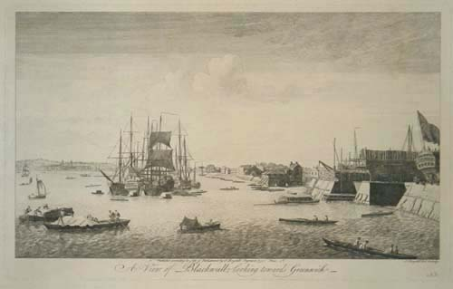 A View of Blackwall, looking towards Greenwich