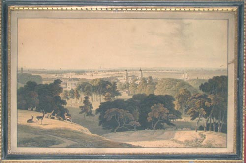 [A View of London from Greenwich Park.]