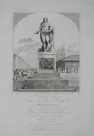 Inscription on the Pedestal of the Statue, erected at the West India Docks. To Perpetuate on this Spot The Memory of Robert Milligan,