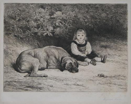 [Girl with dog.]
