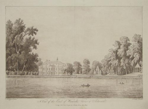 A View of the Earl of Warwick's House at Isleworth.