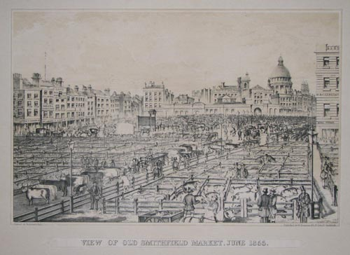 View Of Old Smithfield Market, June 1855.