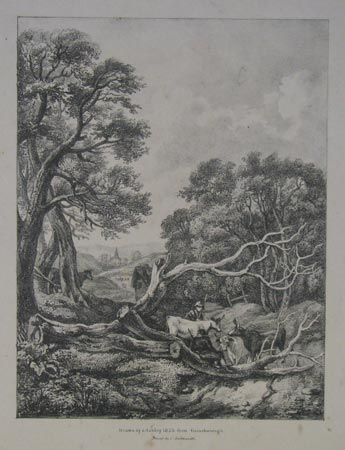 [Landscape with cattle and herdsmen resting.]