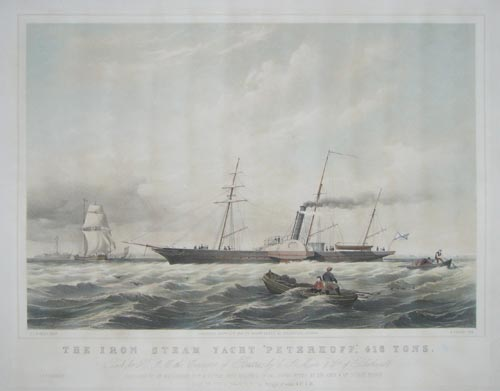 The Iron Steam Yacht 'Peterhoff',  416 Tons.