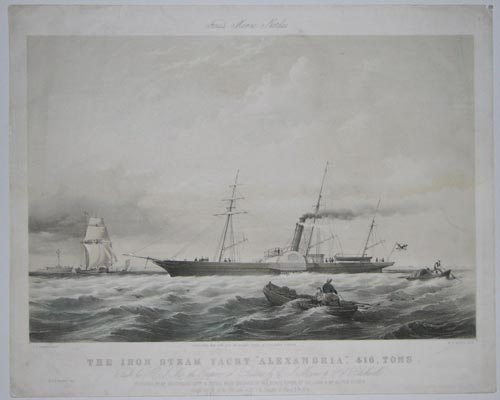 Fores's Marine Sketches  The Iron Steam Yacht 'Alexandria',  416 Tons.