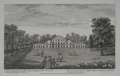 A View of the Palace, of Her Royal Highness the Princess Dowager of Wales, at Kew.