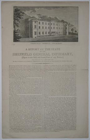 A Report of the State of the Sheffield General Infirmary,