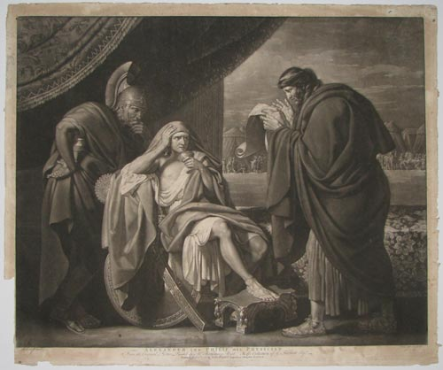 Alexander and Philip His Physician. From the Original Picture Painted by Mr Benjamin West; In the Collection of G.Stibbert Esq.r.