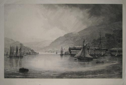 [HMS Britannia at Dartmouth.]