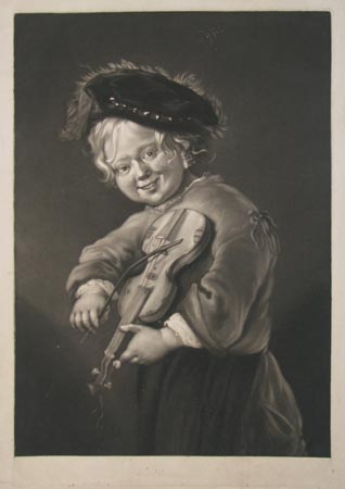 [Boy with violin.]
