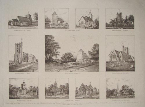 [Eleven views of churches.]