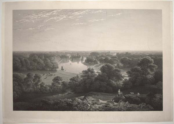 [View of the River Thames from Richmond Hill.]