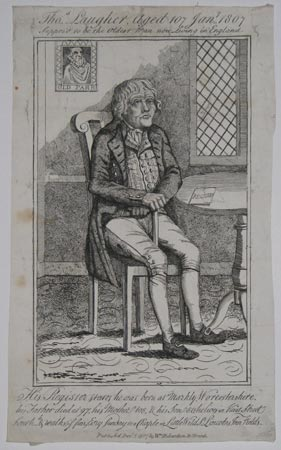 Thos. Laugher, Aged 107 Jany. 1807