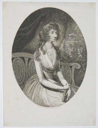 [Portrait of a young woman, possibly Miss McDougal.]