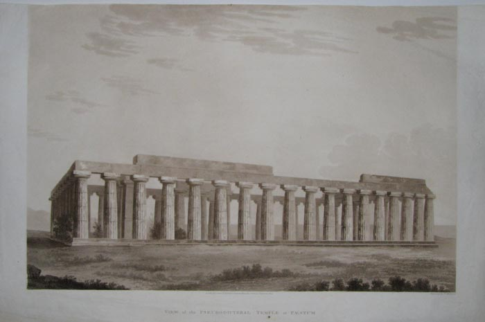 View of the Pseudodipteral Temple at Paestum.