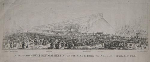 View Of The Great Reform Meeting At The King's Park Edinburgh. _