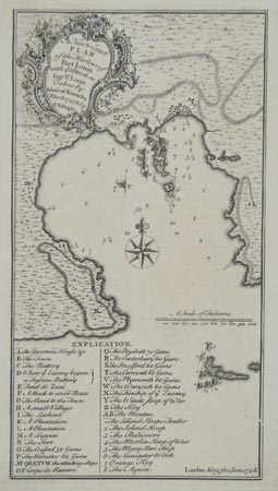 A New & Exact Plan of the Harbour of Port Louis,