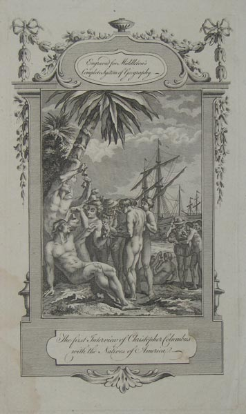 The first Interview of Christopher Columbus with the Natives of America.