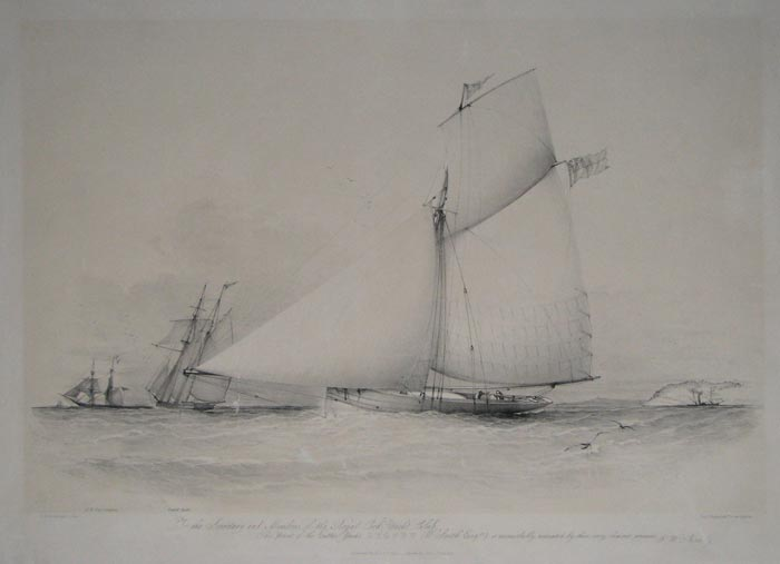 To the Secretary and Members of the Royal Cork Yacht Club, This print of the cutter Yacht Cygnet (W. Smith, Esqre.)