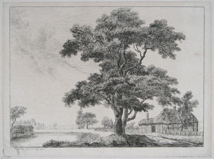 Landscape [tree and cottage].