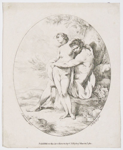[Male and female classical semi-nudes figures.]
